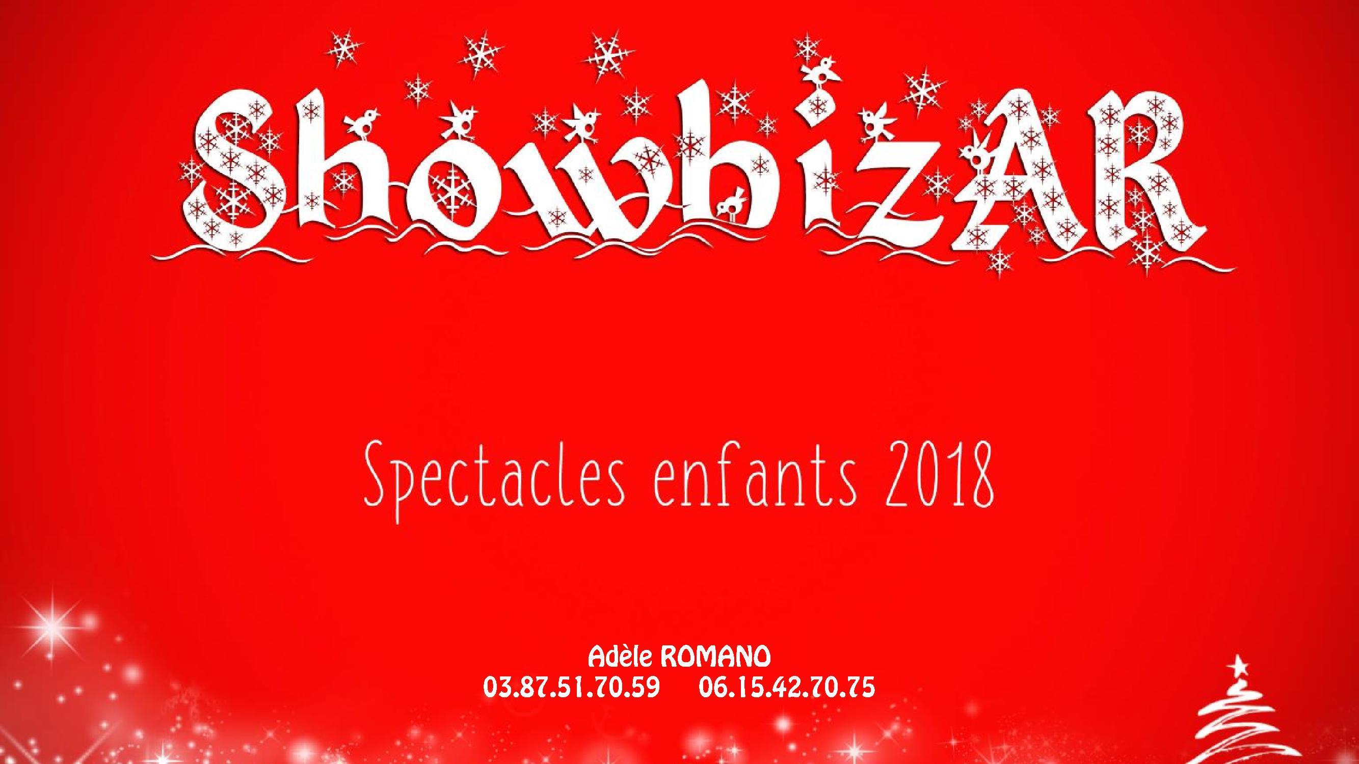 Catalogue Spectacles pour enfants ShowBizAR